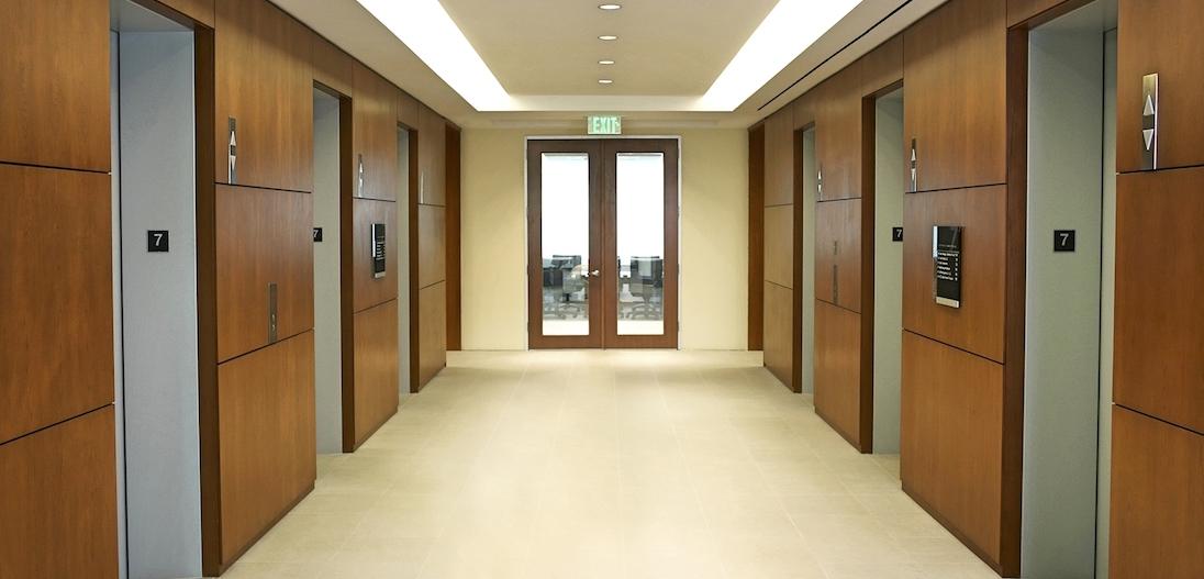hallway between elevators
