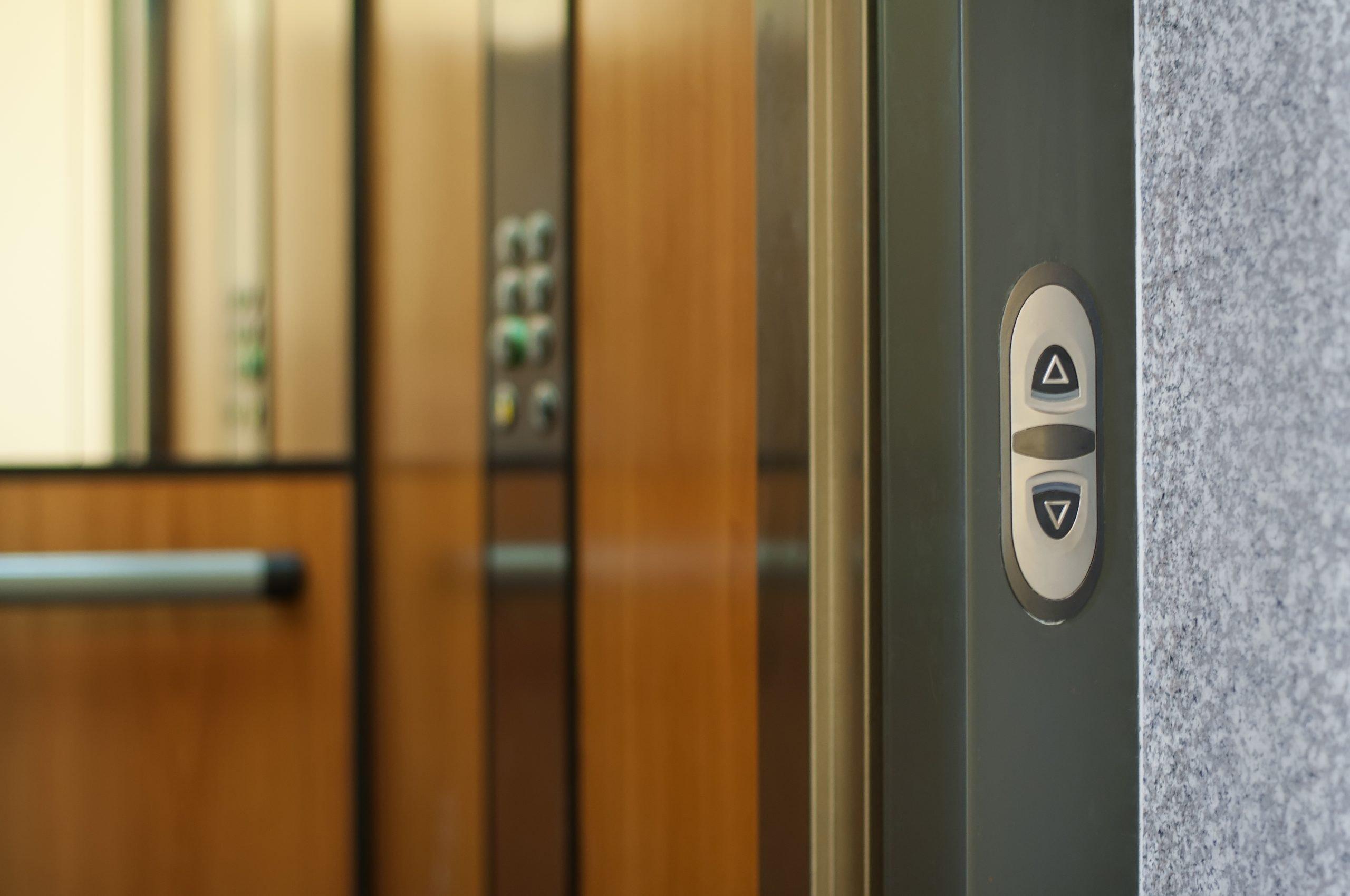 door on modern elevator
